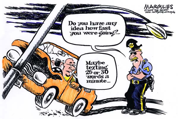 While this comic is amusing, you need only remove the filter from your search results to see what the real crashes from texting and driving look like - As the holiday season is about to get underway, stay safe on the road