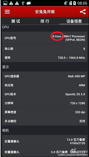 Huawei G750 is powered by the true octa-core MT6592 processor