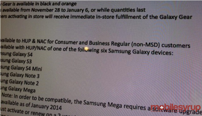 Leaked document shows that the Rogers version of the Samsung Galaxy Meg 6.3 will receive Android 4.3 in January - Rogers' Samsung Galaxy Mega 6.3 to get Android 4.3 in January