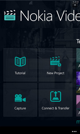 Screenshots from Nokia Video Director for Windows Phone 8