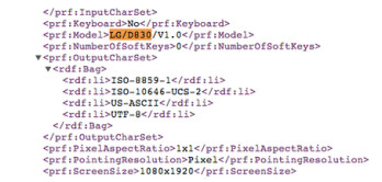 User Agent profile outs the LG D830
