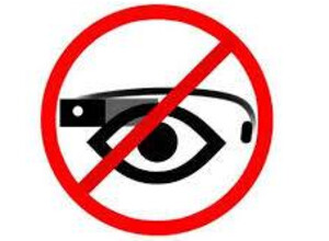 Lost Lakes logo promoting its ban on Google Glass