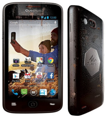 The Quechua phone is protected from the elements