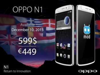 OPPO N1 launching December 10th