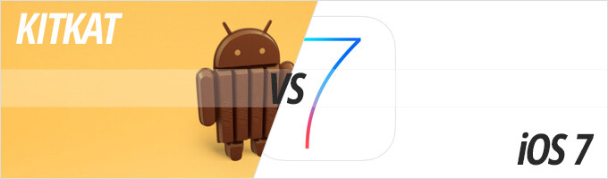 Fight for the top: Android 4.4 KitKat vs iOS 7