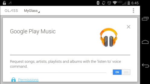 Google Play Music officially comes to Google Glass