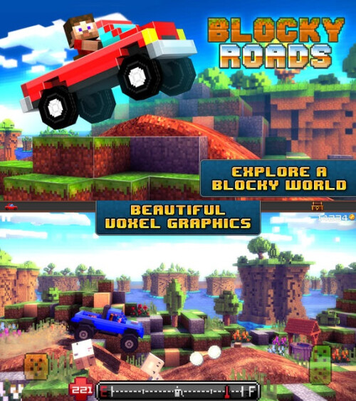 Blocky Roads - Android, iOS - $1.99