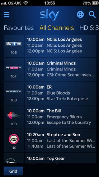 Latest update for Sky+ app allows users to remotely record TV programs