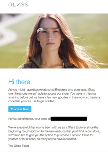 Google is offering some Explorers the option to buy another pair of Google Glass