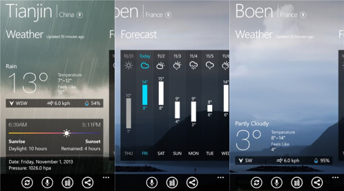 MoWeather HD - Windows Phone - Free