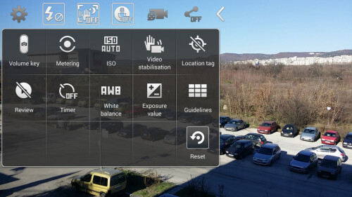Arrange the shortcuts in the camera interface to your liking