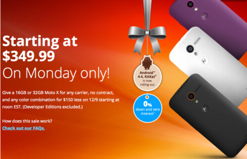 Motorola Moto X Cyber Monday moved to December 9th