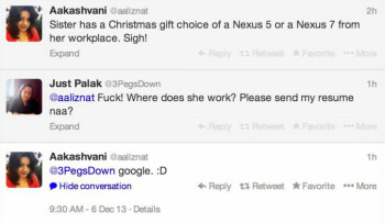 Forum thread confirms Google's holiday gifts for 2013