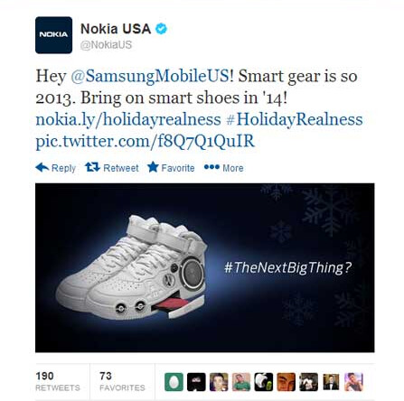 Nokia joking on Twitter
