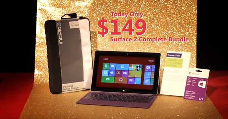 Misleading Microsoft Surface 2 bundle does not include the tablet
