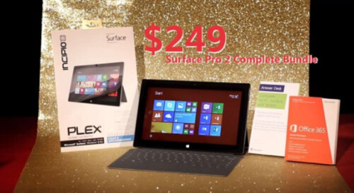 Microsoft Surface Pro 2 is not included with this bundle