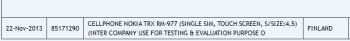 Nokia RM-977 was sent to India for testing and evaluation