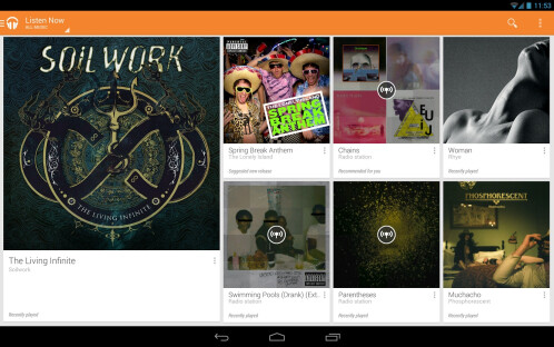 Google Play Music All Access for Android and iOS