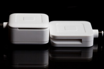 The new Square Card Reader on the right is 45% smaller than the old model