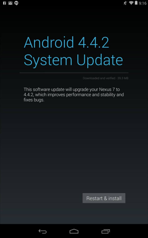 New Android 4.4.2 update starts rolling over-the-air for Nexus devices