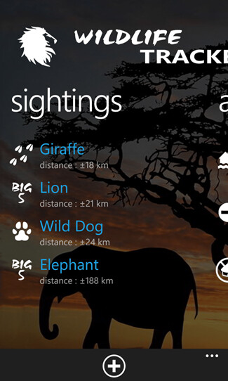 Wildlife Tracker screenshots