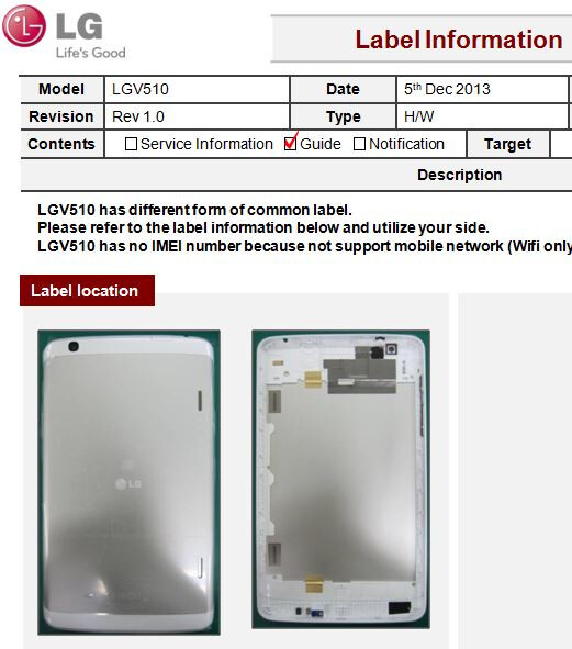 White V510 tablet pictures appear, claimed Nexus 8 candidate still only carries LG branding