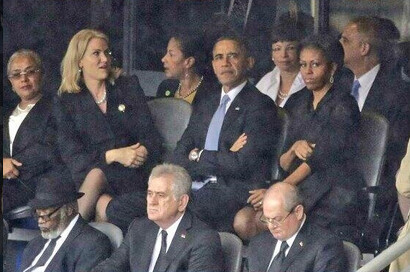 Michelle Obama is not amused