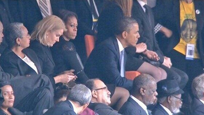 Selfie in Africa ticks off Michelle Obama
