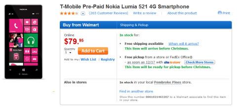 Walmart has the Nokia Lumia 521 for just $79.95...