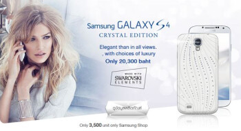 The Samsung Galaxy S4 in crystal is available from Samsung in Thailand