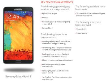 Verizon will soon update the Samsung Galaxy Note 3