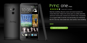 HTC's Hong Kong site shows the HTC One max phablet in black