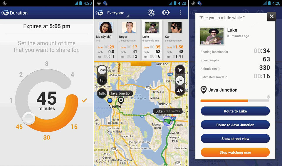Tracking your family with Glympse