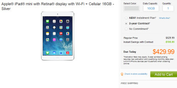 Online lead times for the Apple iPad mini with Retina display have dropped on AT&T and Verizon's websites