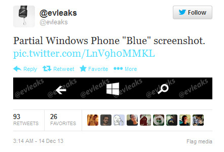 Leak shows layout of virtual buttons supported by Windows Phone Blue