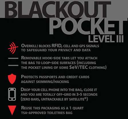 The Scottevest Blackout Pocket