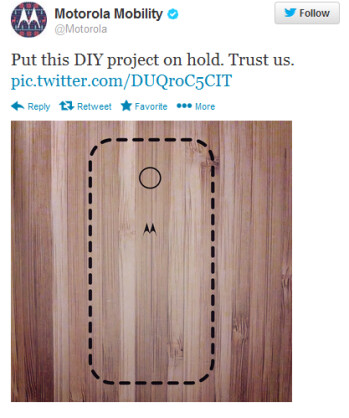 Still no wooden backs for the Motorola Moto X