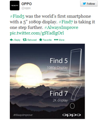 The OPPO Find 7 apparently will have a 2K screen