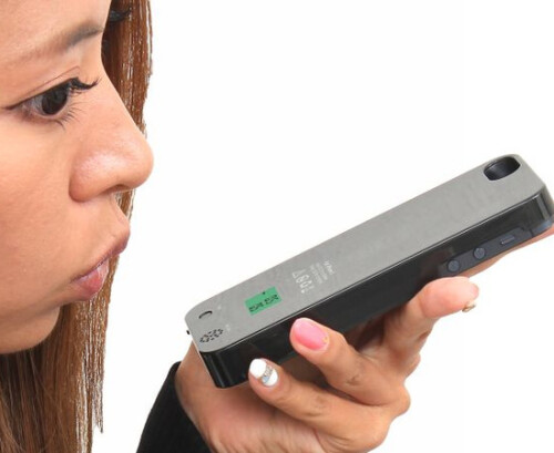 Built-in alcohol tester iPhone case