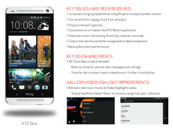 Verizon lists the changelog for the Android 4.3 update to the HTC One