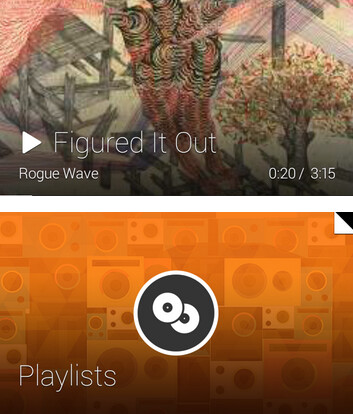 Listen to your Google Play bought music on Glass while you navigate your playlists