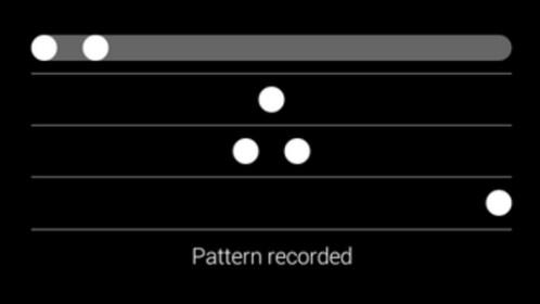 Google Glass pattern based screen lock