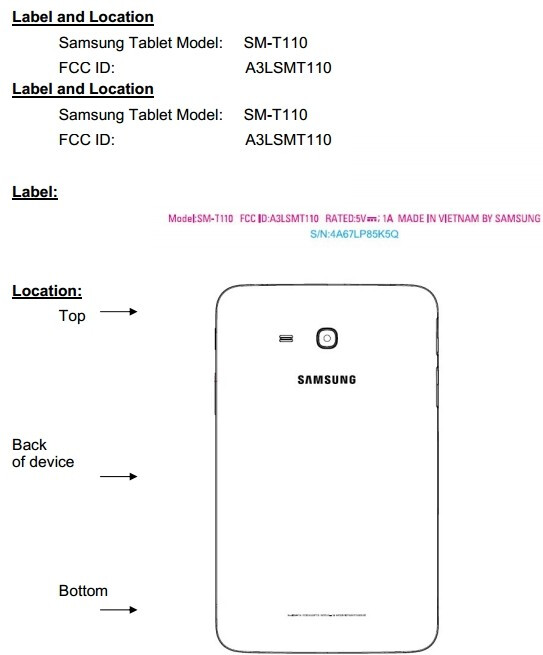 Samsung galaxy tab 3 lite sm t110 hits the fcc as its - Samsung galaxy tab 3 lite sm t110 price ...