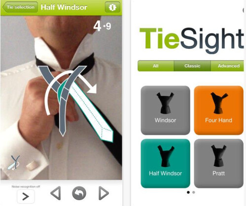 TieSight Free - tying a tie using your camera | Developer: Claus Zimmermann