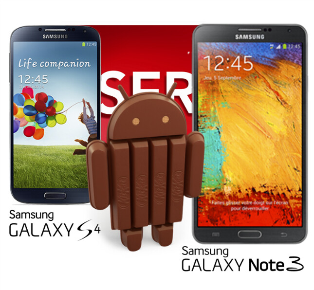 Galaxy S4 and Note 3 to get the Android 4.4 KitKat update late January, announces SFR