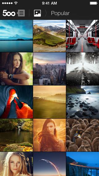 500px for iOS 7 screenshots