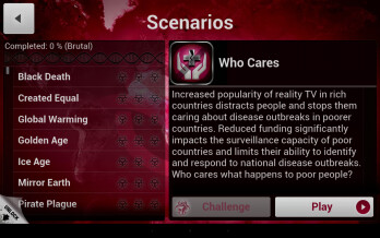 Plague Inc updated with new Scenarios expansion and real-life diseases
