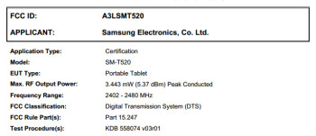 Mysterious Samsung tablet appears at the FCC
