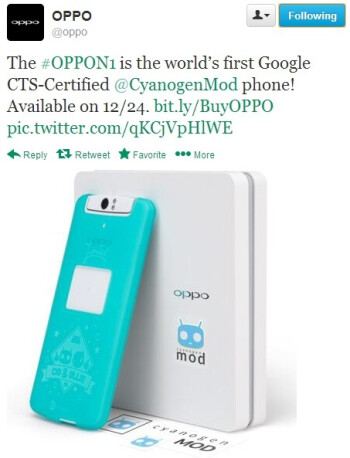Google CTS-certified Oppo N1 CyanogenMod edition launching on December 24
