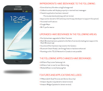 Verizon's Samsung GALAXY Note II is receiving Android 4.3